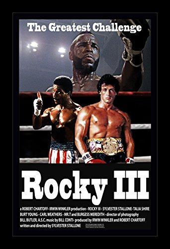 Rocky 3 - 11x17 Framed Movie Poster by Wallspace