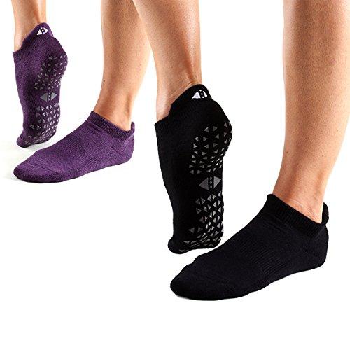 Grip Barre, Dance, Yoga Socks - Tavi Noir Womens Savvy Non-Slip Socks 2 pack