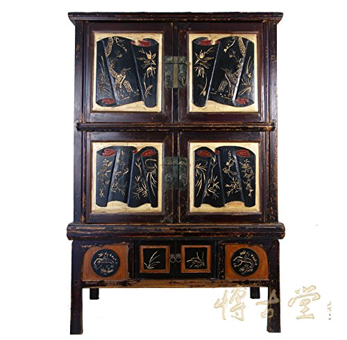 Chinese Antique Carved Zhejiang Armoire 11LP06 ()