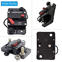 ANJOSHI 200 Amp Circuit Breaker 20A-300A with Manual Reset Waterproof Inline Fuse Inverter for Marine Trolling Motors Boat ATV Manual Power 12V-36VDC