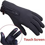 CAMTOA Winter Outdoor Activities Sports Thermal Gloves Windproof Antiskid Cold-Proof Skiing Cycling Skidproof Warm Mitts For Smart Phone Screen Easy Control