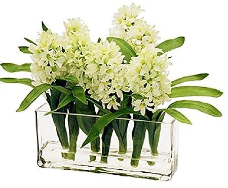 Solavia Glass Rectangular Flower Bunch Vase 30 X 10 X10cm Wedding