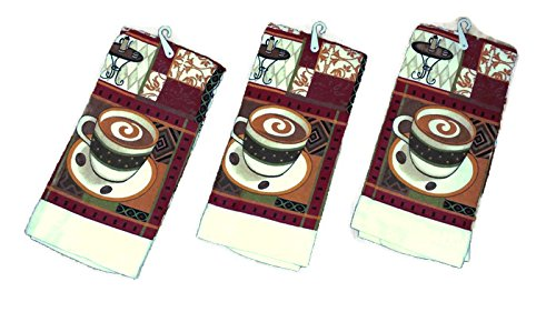Coffee Theme Kitchen Towel Set (3 towel set) (Coffee Theme)