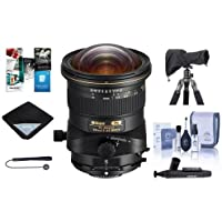 Nikon PC NIKKOR 19mm f/4E ED Perspective Control Lens - U.S.A. Warranty - Bundle With Lens Wrap (19x19), Cleaning Kit, LensCoat RainCoat Rain Sleeve, LensPen Cleaner,Capleash II, Software Package