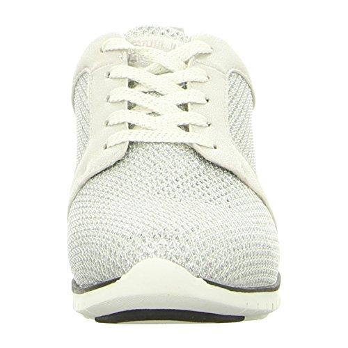 BULLBOXER 173002f5t_whsit - Zapatos de cordones para mujer blanco/plateado