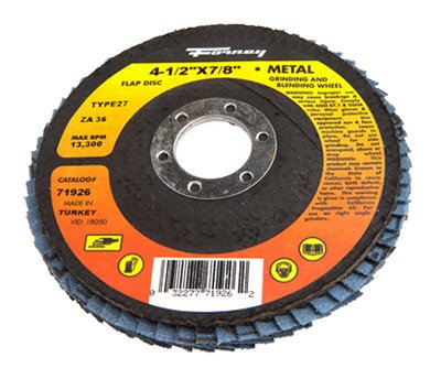 Forney Flap Disc 36grit 4-1/2