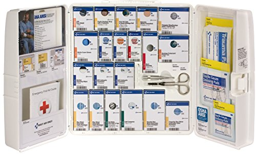 Pac-Kit by First Aid Only 90660 Large Plastic SmartCompliance Food Service First Aid Cabinet without Medications