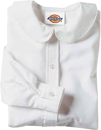 76abb2e934e758 Amazon.com: Dickies Big Girls' Long Sleeve Peter Pan Collar Blouse ...