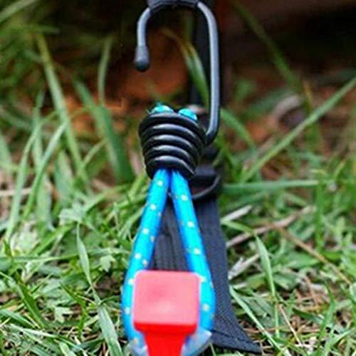 10 Stück Bungee Cord Hook Tie elastische Spanngurte Haken zufällige