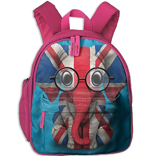 HYF Kids England Elephant Snack Backpack Children Preschool Mini Rucksack Lunch Boxes Carry Bag ()