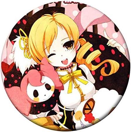 """2.3/"""" Puella Magi Madoka Magica Badges 5 Pieces Pins Schoolbag 5.8CM"""