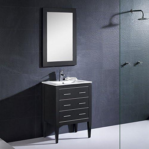 Dowell D01 24 02 Bathroom Vanity Ceramic Top Set Black 18 D Amazon Com