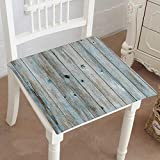 Wooden Fold Up Chairs Ikea Mikihome Memory Foam Chair Pads Light Blue Turquoise Colored Wooden Planks wbackground Texture Cushion Perfect Indoor/Outdoor 14