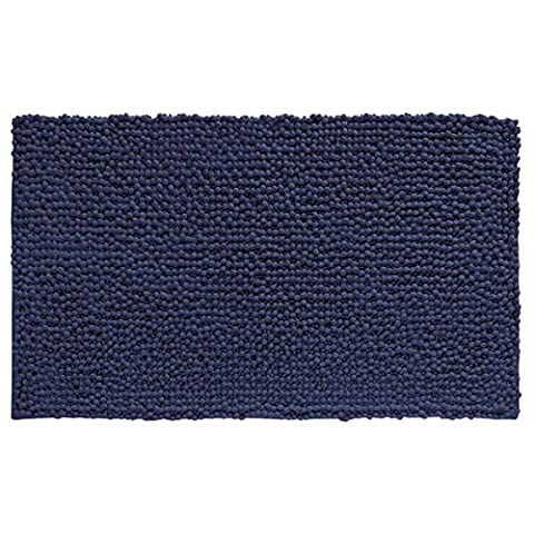 mDesign Soft Microfiber Shag Bath Mat/Rug for Bathroom, Vanity, Bathtub/Shower, Dorm Room - 30