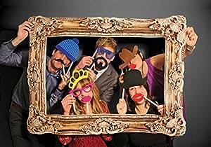 Close Up Photo Booth/Foto Requisite/XXL Fotos con 24witzigen Accesorios