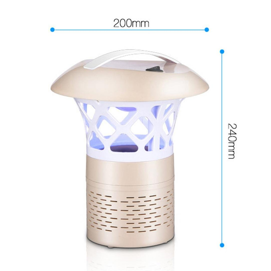 Mosquito Killer Light 5W USB Smart Optically Controlled Insect Killing Lamp (Gold) by TLT Retail (Image #3)