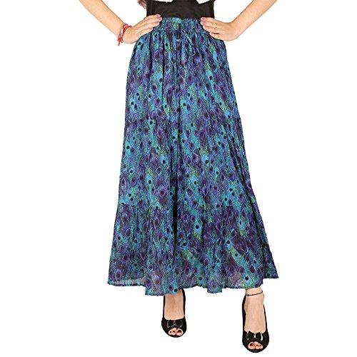 Cotton Women's Free Breeze Handicrfats Skirt Cotton Export Indian Size Multicolor UxqfwHXU