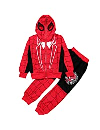 Nine Minow 2PCS Baby Boys Long Sleeve Spiderman Tops+Pants Set Kids Casual Clothes