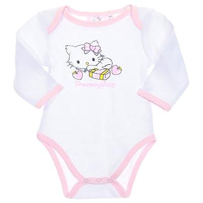 Body bébé manches longues Charmmy kitty Blanc/rose clair 12mois