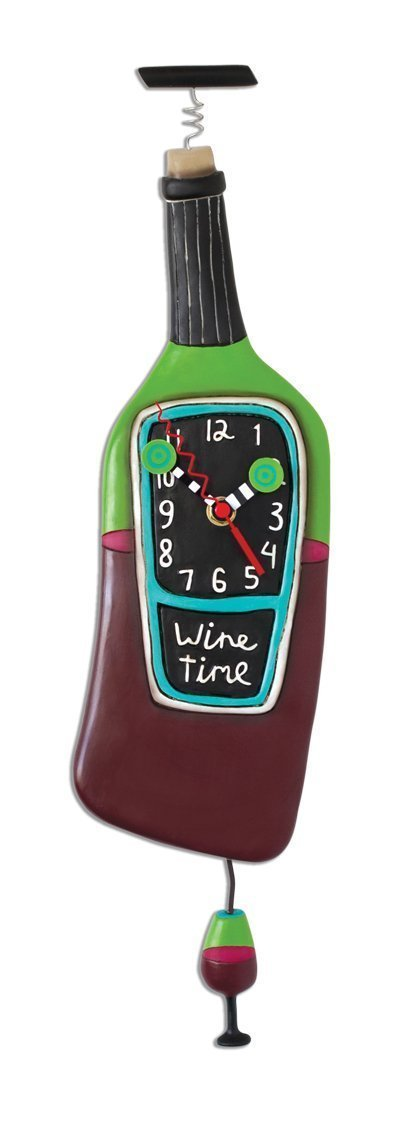 Wine Bottle Designed Clock, Corked, Wine Time Allen Designs