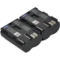 2x BP-511 Battery for BP-508 BP508 BP511 BP-511A BP-512 BP-514 DS6041 BP-522 BP-533 Media Storage M30 M80 EOS 5D 10D 20D 20Da 30D 40D 50D 300D D30 D60 Digital Rebel Kiss Digital PowerShot G1 G2 G3 G5 G6 Pro 1 Pro 90 IS