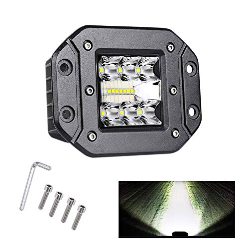 TTK Auto 2PCS 80W 6000Lm DC12~24V Driving Fog Light Off Road Led Lights Bar Mounting Bracket for SUV Jeep Lamp
