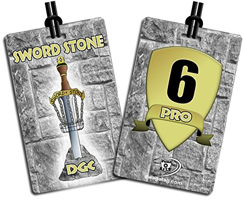 Disc Golf Bag Tags Custom Designed with Your Logo / Numbered - Set of 25 Tags by SWAG A TAG