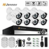 Jennov PoE CCTV Security NVR System 8 Channel 1080P Surveillance IP Network Camera HD Night Vision Outdoor Indoor, Power OVer Ethernet, Motion Detection, Mobilephone Remote View (No Hard Drive)