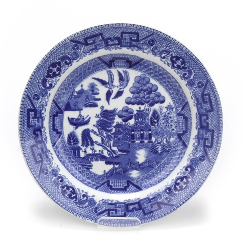 Blue Willow by Royal, China Salad Plate (Royal Blue Willow)