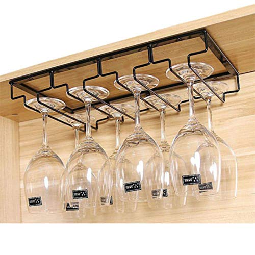 Yiwa Wine Glass Hanging Holder Iron Wall Mount Goblet Stemware Storage Organizer Rack