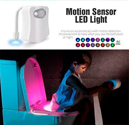 Acrim Advanced 16-colors Motion Automatic Sensor Toilet Bowl Night Light, LED Toilet Seat Nightlight, Light Detection, Toilet - Lamp Motion 16