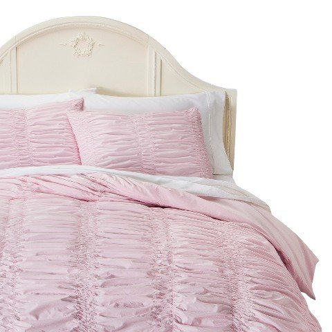(Simply Shabby Chic® Textured Duvet Cover Set - Pink - King)