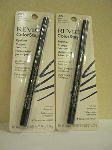 Revlon ColorStay Eyeliner with Sharpener, Color - Navy 205 (Pack of 2)