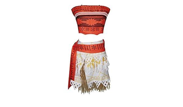 Vestido disfraz Cosplay tipo Vaiana Moana niña disfraz Carnaval ...