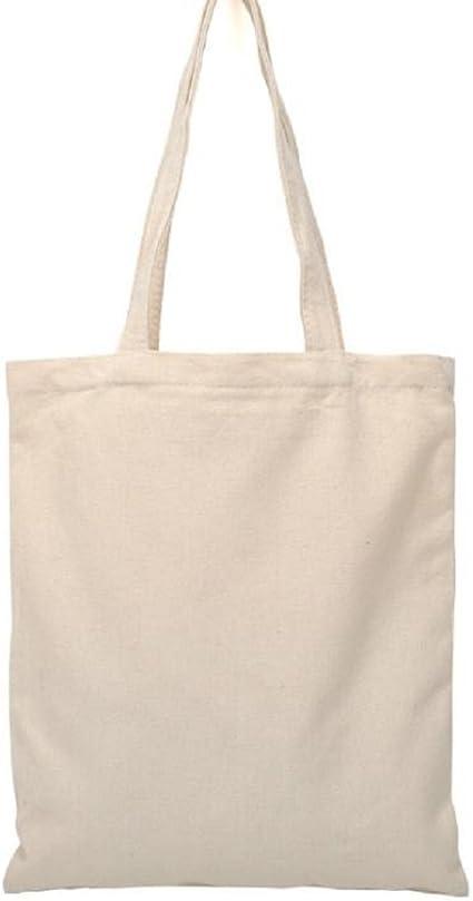 Bolsa de compras Bigboba, color blanco, de lona natural, de algodón, para mujer … (A): Amazon.es: Juguetes y juegos