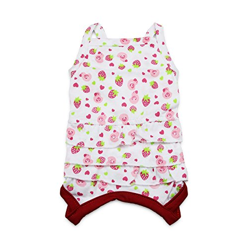 DroolingDog Clothes Dresses Pleated Strawberry product image