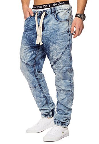 2 Jeans Freestar gamba Fit Id1242 Slim Azzurro Backyard Joggjeans Uomo rUxEUz