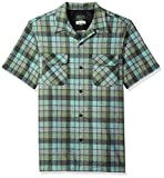 Pendleton Men's Short Sleeve Board Shirt, Green/Oxford Grey Beach Boy, MD
