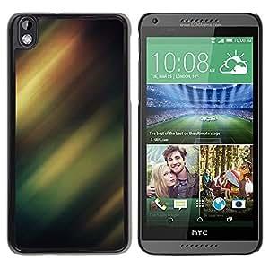 TopCaseStore / la caja del caucho duro de la cubierta de protección de la piel - Borealis Sky Night Lights Green - HTC DESIRE 816