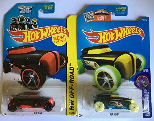 Hot Wheels 2016 Rip Rod Treasure Hunt & 2014 Rip Rod 2-Car Set
