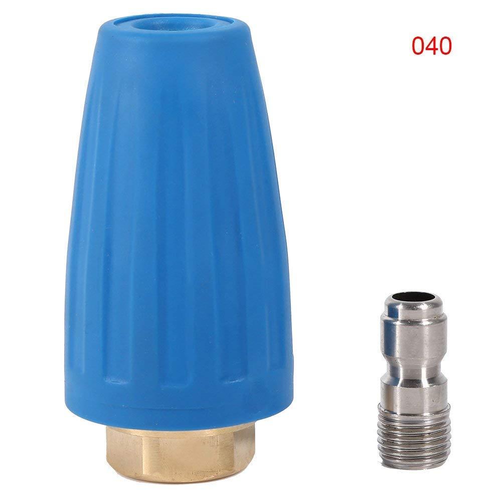 Buse À Turbine Rotative Pivotante À Haute Pression 3000PSI Accessoires Pour Pistolet De Nettoyage Haute Pression 1/4inch GPM 2.5-4.0 ( Taille : 4 ) Yosoo