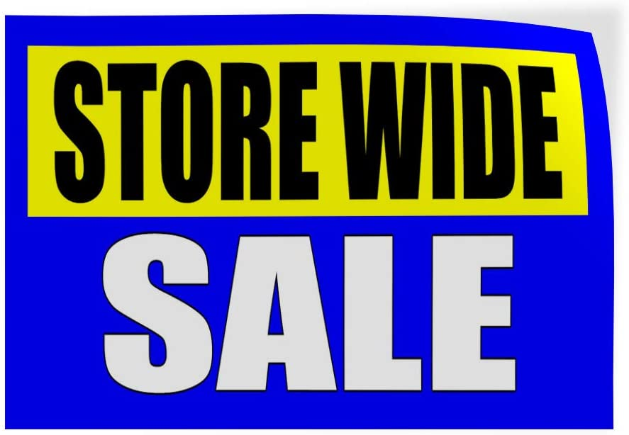 52inx34in Decal Sticker Multiple Sizes Storewide Sale Clearance Business Store Wide Sale Outdoor Store Sign Blue Set of 2