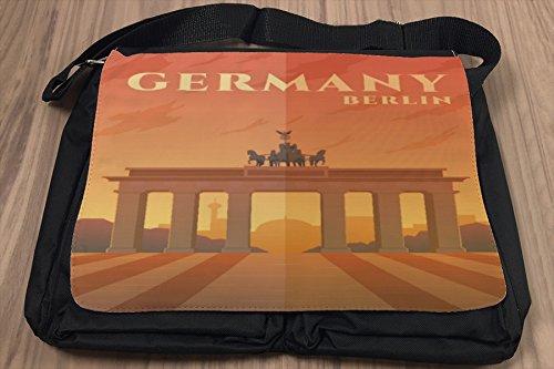 Borsa Tracolla Voglia Viaggiare Città Berlino Germania Stampato