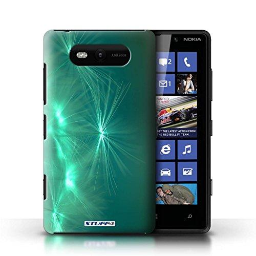 Etui / Coque pour Nokia Lumia 820 / Turquoise conception / Collection de Allumez la vie