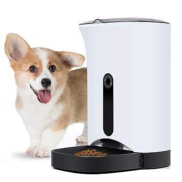 AL Perro Automático Alimentador Mascota Inteligente Sincronización Alimentador Gato Y Perro Maquina De Alimentacion con LCD Luz Azul Monitor: Amazon.es: ...