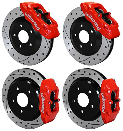 T & REAR DISC BRAKE KIT FOR 97-13 CORVETTE C-5 C-6 Z06, CALIPERS, ROTORS, PADS, 1997 1998 1999 2000 2001 2002 2003 2004 2005 2006 2007 2008 2009 2010 2011 2012 2013 ()