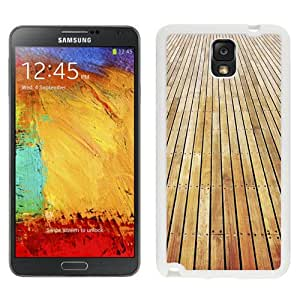 Beautiful Unique Designed Samsung Galaxy Note 3 N900A N900V N900P N900T Phone Case With Wooden Floor Texture_White Phone Case
