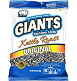 GIANTS Sunflower Seeds Roasted Salty Sweet Flavor, 5-Ounce Bags (Pack of 12)