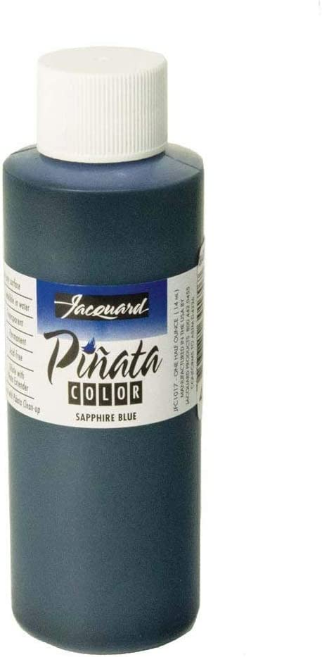Pinata Sapphire Blue Alcohol Ink That by Jacquard, Professional and Versatile Ink That Produces Color-Saturated and Acid-Free Results, 4 Fluid Ounces, Made in The USA