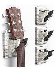 $27 » 4 Pack Guitar Wall Hanger, Guitar Wall Mount Guitar Wall Mounted Holder Ukulele Hanger Bracket Wood Hanging Holder for Acoustic Electric Guitar Bass Banjo Mandolin